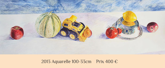 vente aquarelle nature morte.