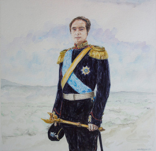commande portrait aquarelle