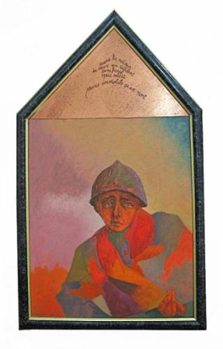 1989 90 Huile sur toile, cuivre, gravure 73 43cm