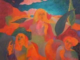 1990 Huile sur toile 120 98cm