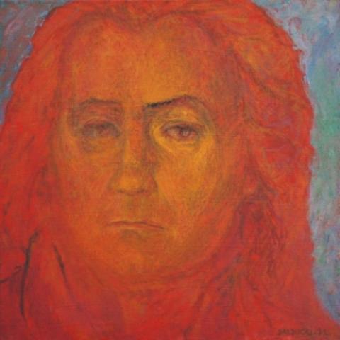 1991 Huile sur toile 40 40cm