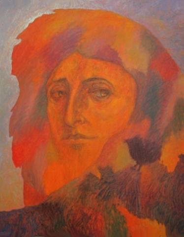 1991 huile sur toile 100 81cm