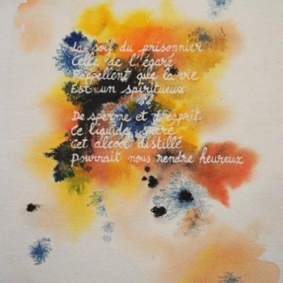 1992 aquarelle poème Y. Gerbal