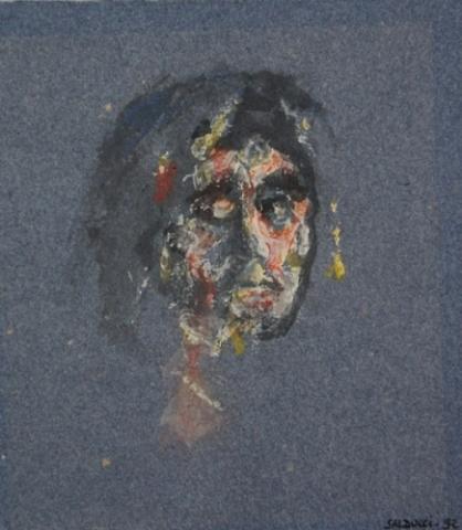 1992 gouache ,encre sur papier couleur
