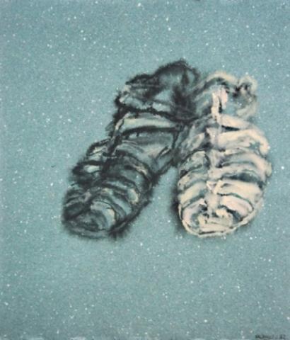1992 gouache sur papier couleur 40 32 cm