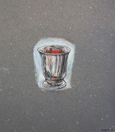 1994 gouache sur papier couleur