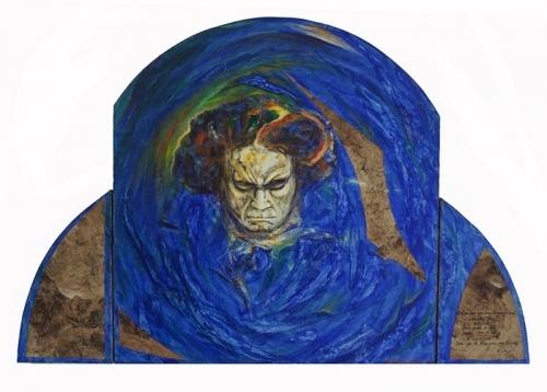 1995 Acrylique sur toile marouflée sur bois 58 41cm