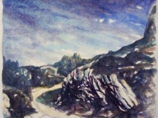 1996 aquarelle 26 25 cm