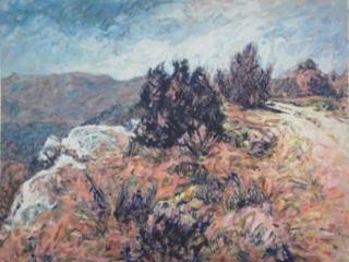 1997 Acrylique sur papier 65 53 cm