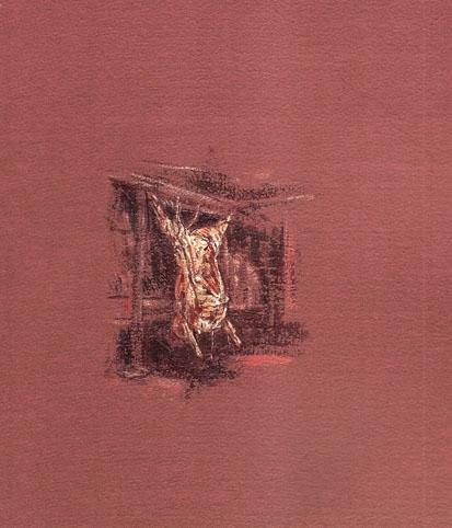 1997 acrylique sur papier couleur d'apres Rembrandt