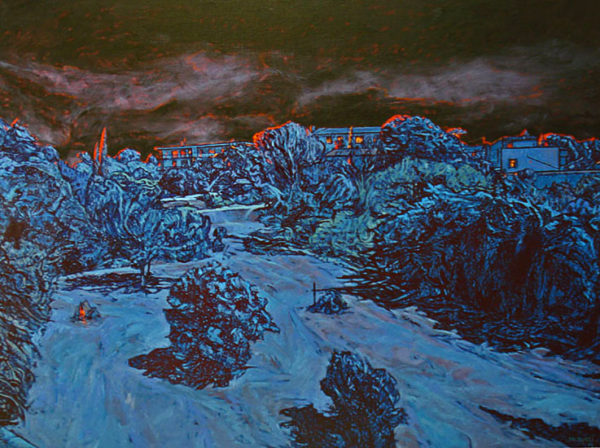 Peinture paysage nuit Patrick Salducci