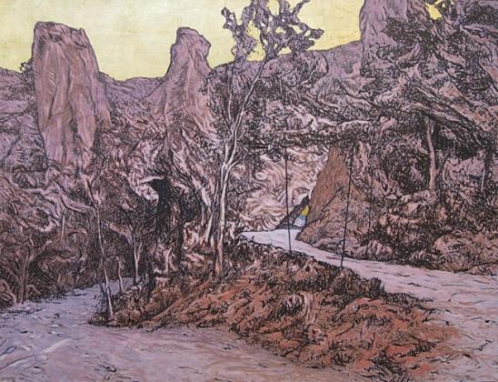 2001 Huile sur toile 82 66cm