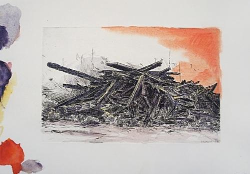 2007 Gravure,aquarelle 30 20cm