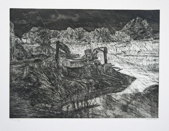 2008 gravure 45 35cm
