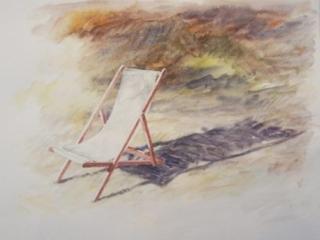 Aquarelle chaise longue