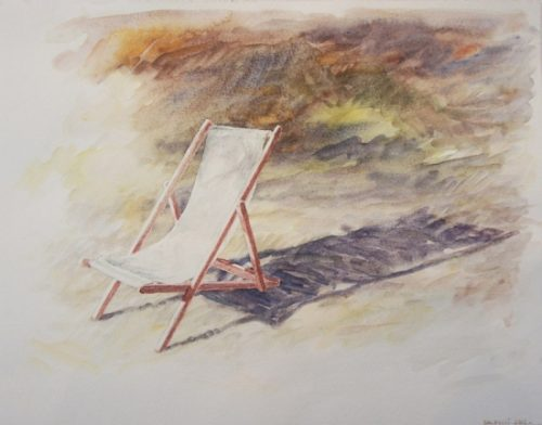 Aquarelle chaise longue