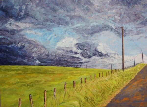 Peinture paysage basque Patrick Salducci