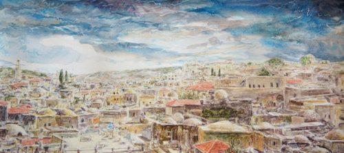 aquarelle Jérusalem 39-18cm 2015