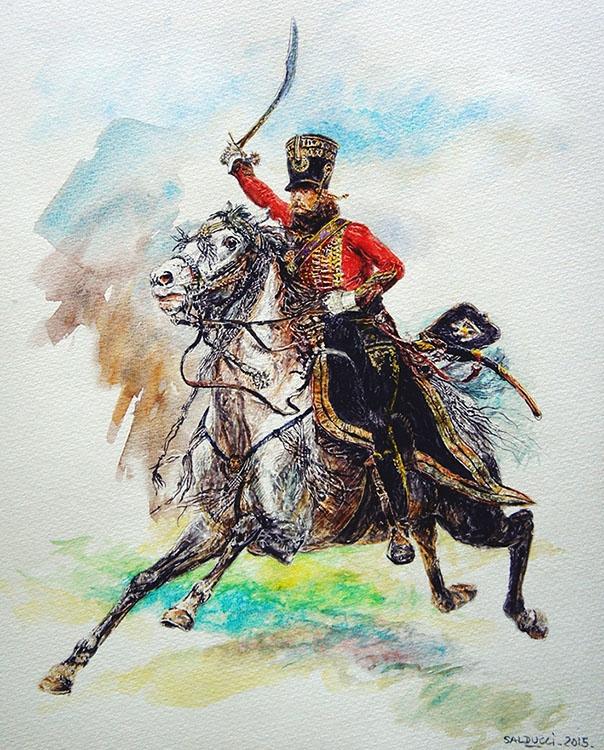 aquarelle-hussard-napoleon