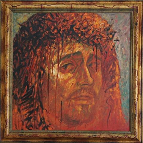Jésus visage taleau